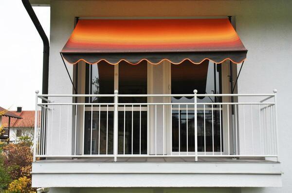 Angerer Klemmmarkise orange/braun 150 cm