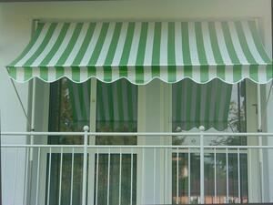 Angerer Klemmmarkise grün/weiß 150 cm