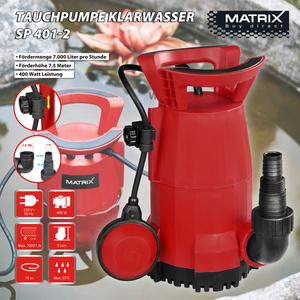 Matrix Tauchpumpe Klarwasser SP 401-2
