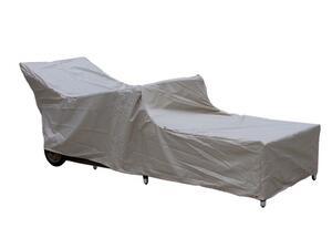 Grasekamp Premium Schutzhülle Gartenliege Liegestuhl Sonnenliege Relaxliege Grau