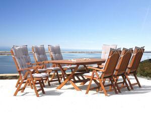 Grasekamp Gartenmöbel 17tlg mit Klapptisch 200x100cm Terrassenmöbel Santos Sand