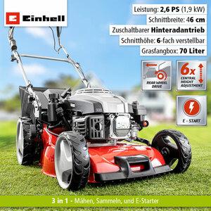 Einhell RED Benzin-Rasenmäher GC-PM 46 HW-SE