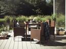 Bild 1 von VCM Polyrattan Set Tisch 140x90 + 6 Stühle / Braun