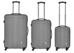 "Packenger 3er Koffer-Set ""Torreto"" Hartschale, grau(M, L & XL)"