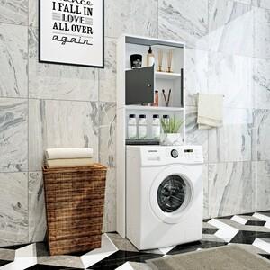 HappyHome Waschmaschinen-Überbauschrank HWS01-GRA