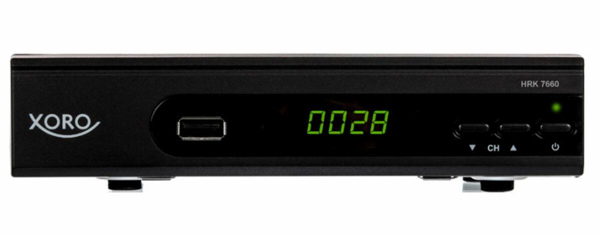 Bild 1 von XORO HD DVB-C Receiver HRK 7660, H.264 HDTV, MPEG-4 AVC/AVCHD, Farbe: Schwarz