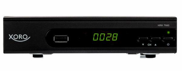 XORO HD DVB-C Receiver HRK 7660, H.264 HDTV, MPEG-4 AVC/AVCHD, Farbe: Schwarz