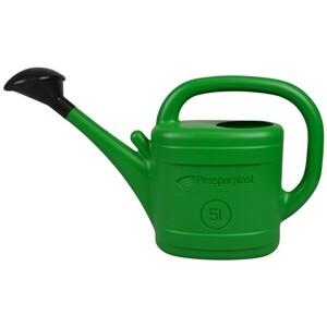 Gießkanne 5 Liter grün aus Kunststoff mit Brause