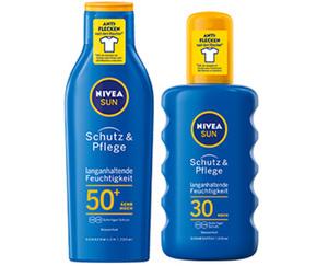 NIVEA SUN Sonnenspray Schutz & Pflege, LSF 30 oder -Lotion, LSF 50+