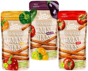 Sun Snacks Knusprig gebackene Gemüse-Sticks