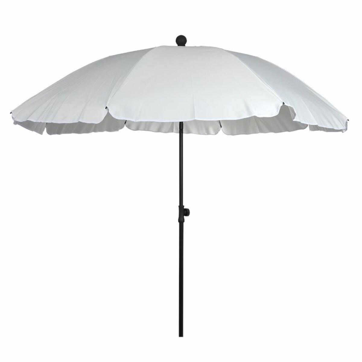 Bild 2 von Sonnenschirm mit Knickgelenk 175x200cm Weiß, beschichtetes Metallgestell, Schirmbespannung aus 100% Polyester, Gewicht: ca. 1,71kg