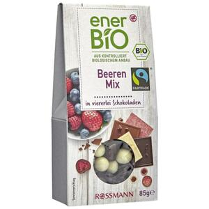 enerBiO Beeren-Mix in viererlei Schokoladen 3.52 EUR/100 g