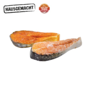 Frische Lachssteaks oder -Koteletts