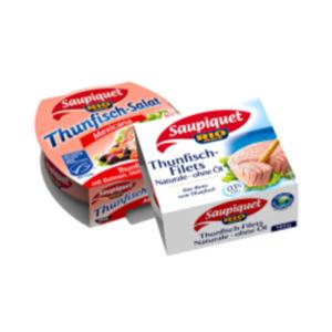 Saupiquet Thunfisch-Filets naturale, in Sonnenblumenöl oder Thunfisch-Salat
