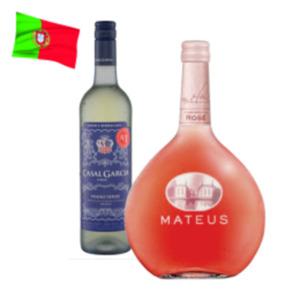 Mateus Rosé Vinho de Mesa oder Casal Garcia Vinho Verde