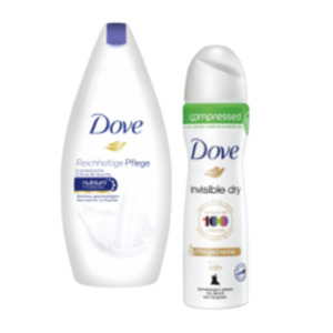 Dove Pflegeduschgel, Deo Spray oder Roll-On