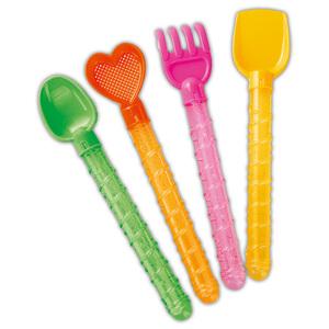 Alldoro Sandspielzeug mit Seifenblasenschwert 4er-Set