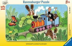 Ravensburger Puzzle Maulwurf als Lokführer