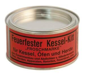 Kesselkitt feuerfest, grau, für Öfen, Temperaturbeständig bis 1100 °C, 600 g