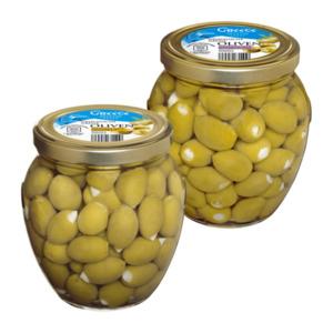 Griechische grüne Oliven