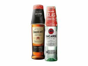 Bacardi Carta Blanca Rum/Oakheart/Razz