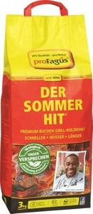 Profagus Buchen Grill-Holzkohle - Der Sommer-Hit ,  3 kg, grobstückig, brennt schnell an