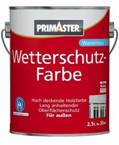 Primaster Wetterschutzfarbe ,  2,5 l, schwarz