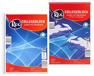 Rex®  Collegeblock, DIN A4