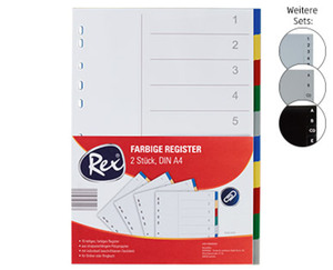Rex®  Kunststoff-Register, DIN A4
