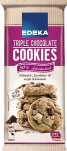 EDEKA Cookie triple chocolate 200 g