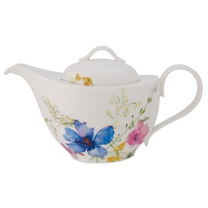 Villeroy & Boch Kanne /Teekanne 1,2 l MARIEFLEUR Basic Weiß mit farbigen Blüten