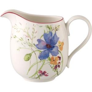 Villeroy & Boch Krug /Milchkanne 600 ml MARIEFLEUR Basic Weiß mit farbigen Blüten