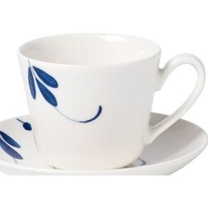 Villeroy & Boch Tasse für Espresso 100 ml VIEUX LUXEMBOURG BRINDILLE Weiß mit Blau