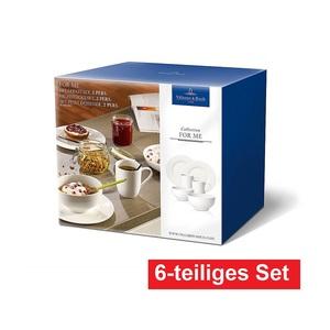 Villeroy & Boch Kaffeeservice /Frühstücksset 6 teilig FOR ME Cremeweiß
