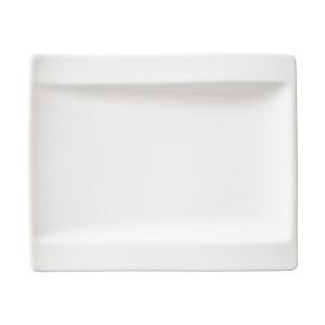 Villeroy & Boch Servierteller /Brotteller 15 x 18 cm NEW WAVE LINE Weiß