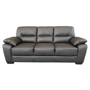 Sofa Garnitur PERTH 2-teilig Bezug Leder/Lederlook Mix braun