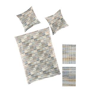 bierbaum Mako-Satin-Bettwäsche MODERN 135 x 200 cm in Grau
