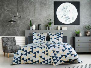 Dobnig Mako-Satin Bettwäsche Dreiecke eisblau