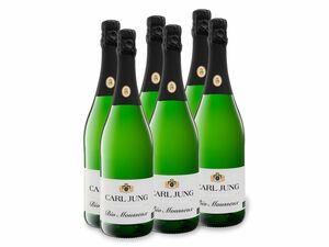 6 x 0,75-l-Flasche Weinpaket Carl Jung BIO Mousseux, schäumendes Getränk aus alkoholfreiem Wein