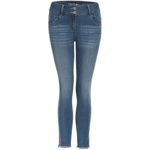 7/8 Damen Slim-Jeans mit Galonstreifen