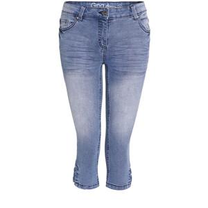 Damen Capri-Jeans mit fixierter Schnürung