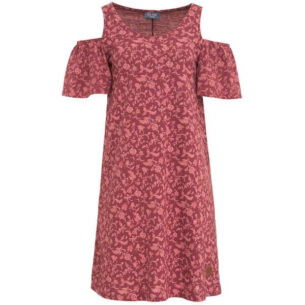 Damen Kleid im Cold-Shoulder-Look
