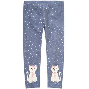 Mädchen Leggings mit Katzen-Print