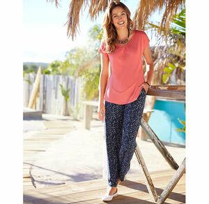 Laura Torelli Classic Damen-Hose mit elastischem Bund