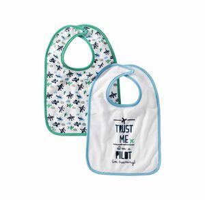 Liegelind Baby-Jungen-Lätzchen, 2er Pack