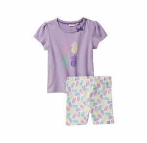 Liegelind Baby-Mädchen-Set mit Ananas-Muster, 2-teilig