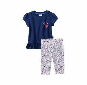 Liegelind Baby-Mädchen-Set mit Herz-Aufdruck, 2-teilig