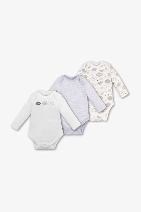 Baby Club         Baby-Body - Bio-Baumwolle - 3er Pack