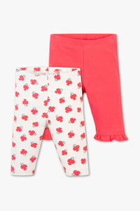 Baby Club         Baby-Capri-Leggings - Bio-Baumwolle - 2er Pack