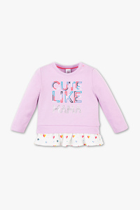 Baby Club         Baby-Sweatshirt - Bio-Baumwolle - 2-in-1-Look - Glanz Effekt